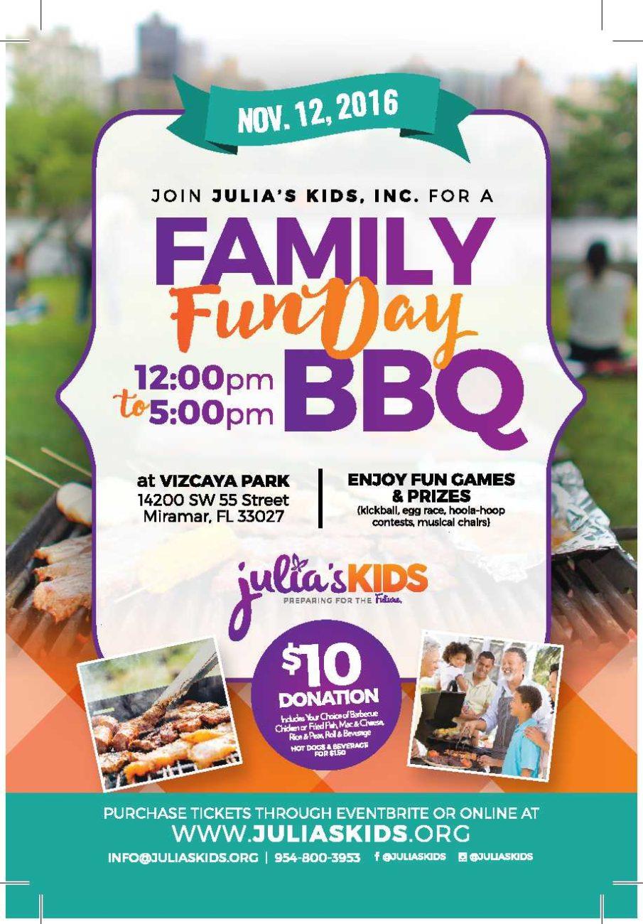 Julia's Kids Family Fun Day Barbecue