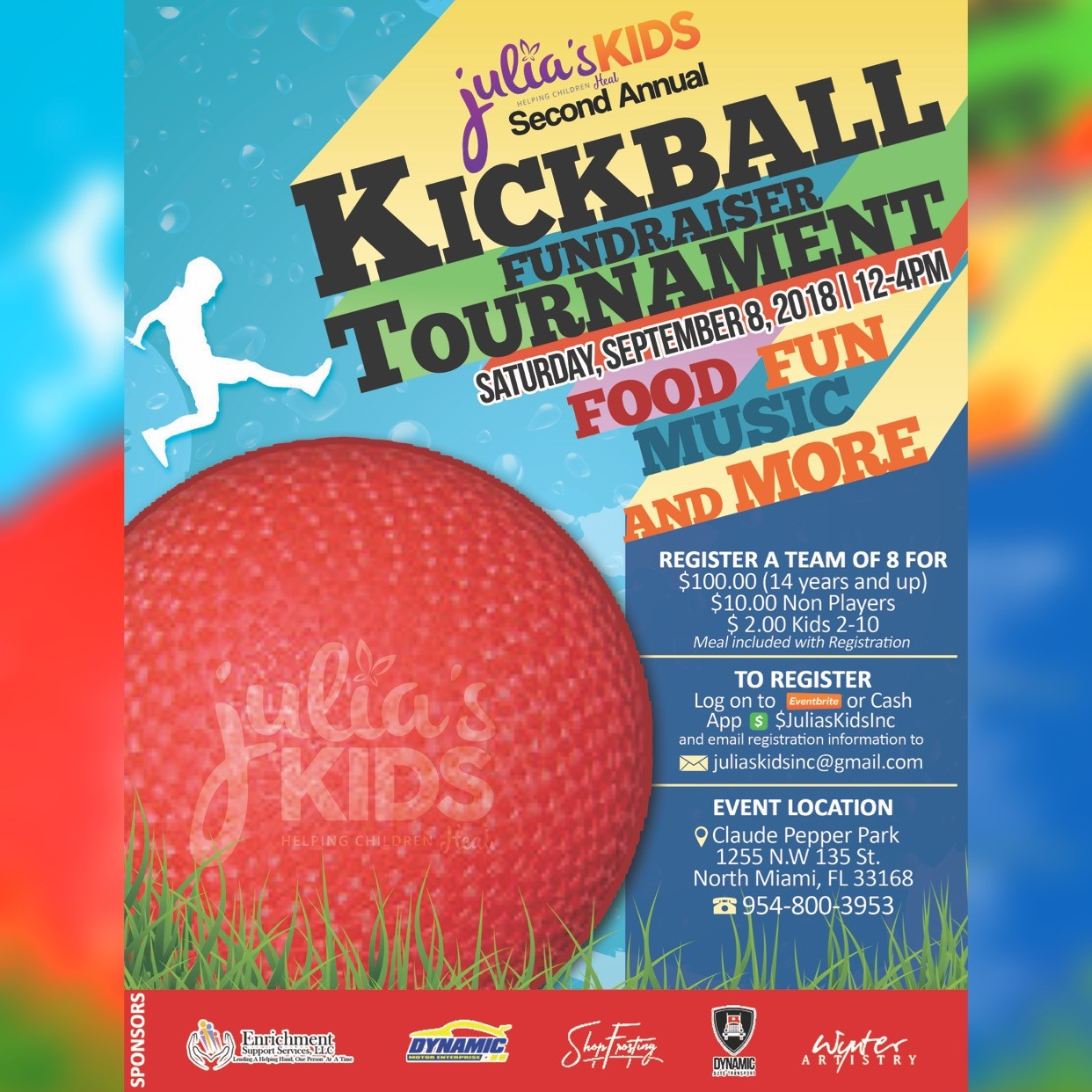 Julia's Kids 2nd Annual Kickball Fundraiser Tournament
